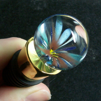 Unobtainium Flower Wine Bottle Stopper SRA