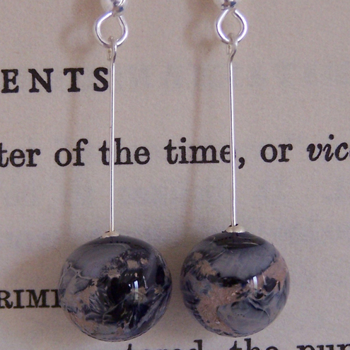 Moontime World Glass Earings