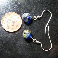 Little Cloudy Blue World Glass Drop Earrings SRA
