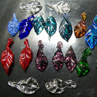 RESERVED FOR CHRISTIE*** Handmade Glass Leaves