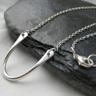 "Hand Forged Sterling Silver Horse Shoe Necklace 18"" - Handmade By CMcB Jewellery"