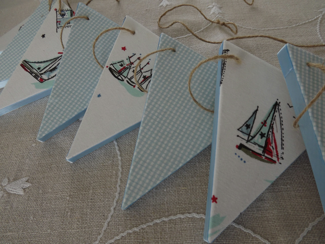 Large Wooden Boat Bunting