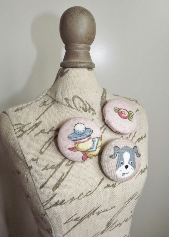 Fabric Button Badges
