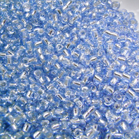 Pale Blue Silver Lined Seed Beads