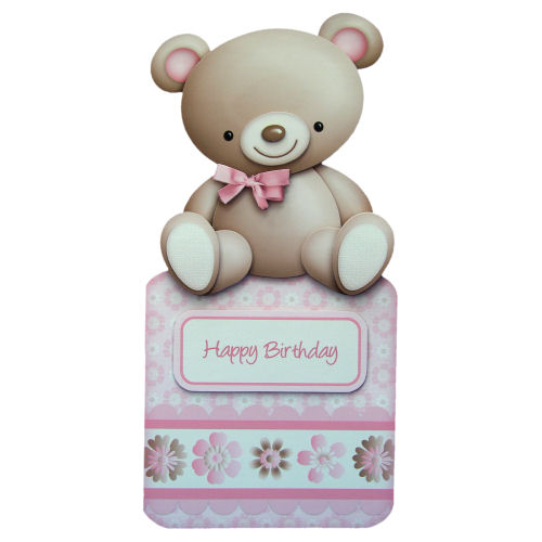 My Cute Teddy Birthday Card Over The Top Handcr