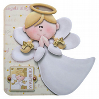 Hark The Herald Angel Christmas Card Luxury Handcrafted 3D Decoupage Card