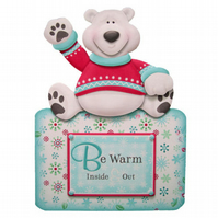 Beary Warm Wishes Luxury Handcrafted 3D Decoupage Christmas Card -Yule, Xmas