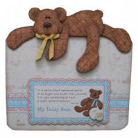 My Teddy - Beary Special Love Luxury Handcrafted 3D Decoupage Card - Teddy Bear