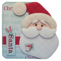 I Believe in Santa Christmas Card Luxury Handcrafted 3D Decoupage Card