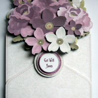 Flower Filled Envelope 3D Decoupage Card With Various Options