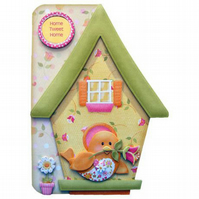 New Home Bird House 3D Decoupage Card Moving Home House Warming Home Sweet Home