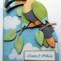Whimsical Any Occasion 3D Decoupage Card A Toucan Gesture Various Options