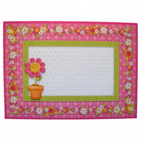 5 Pretty Pink Daisy Envelopes for Card Makers 5 x 7 Inches