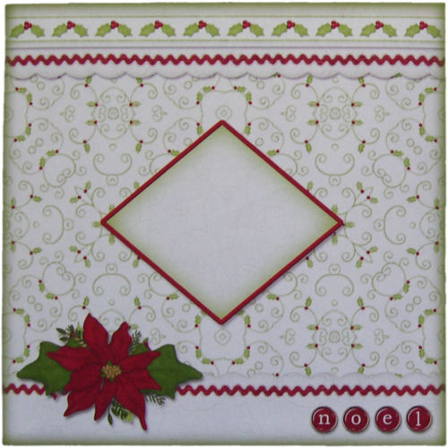 Pack of Five Poinsettia & Holly Design Christmas Envelopes 6 x 6 Inches Noel