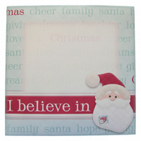 Pack of 5 I Believe In Santa Christmas Envelopes 6 x 6 Inches for Cards