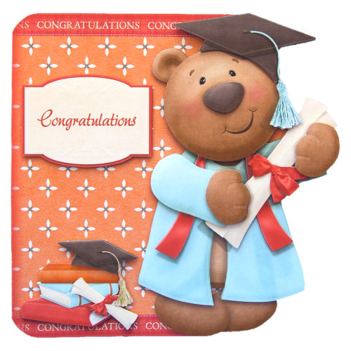Graduation Card Congradulations 3D Decoupage University Congratulations Card