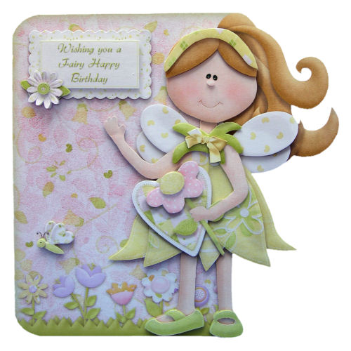 Fairy Best Wishes Girl's Fairy Birthday Card Handcrafted 3D Decoupage