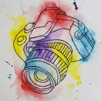 Camera Obscura ORIGINAL Watercolor Illustration Painting