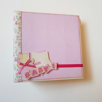 Handcrafted Baby Girl Photo Journal Scrapbooking Album Memory Book