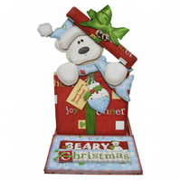 Beary Christmas 3D Decoupage Christmas Card Easel Card Bear Merry Christmas