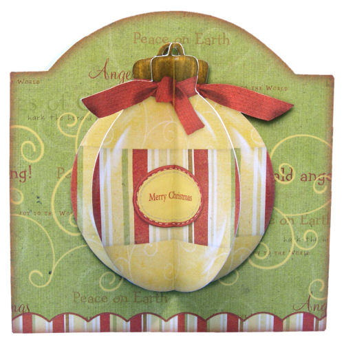 Luxury 3D Christmas Tree Bauble Card with Matching Envelope