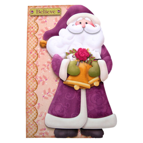 Believe in Santa Christmas Card 3D Decoupage Father Christmas