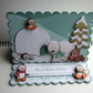 Chilly Chums 3D Decoupage Christmas Easel Card Suitable for All Ages Winter Yule