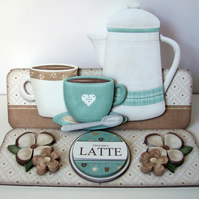 Coffee Time Easel 3D Card Love You a Latte, Expresso my Thanks, Appreciation