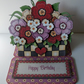 Birthday Floral Planter Easel Card Handcrafted 3D Decoupage Card & More Options