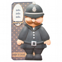 Policeman Shaped Card Any Occasion Birthday Father's Day Get Well Soon Good Luck