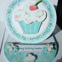 My Little Cupcake Birthday Card Handcrafted 3D Decoupage Happy Birthday Sweetie
