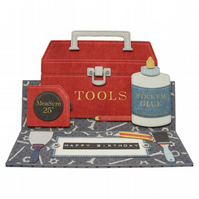 Tool Box Easel Card Handcrafted 3D Decoupage Greetings Card Father's Day etc.