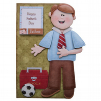 Happy Father's Day Card Hand Crafted 3D Decoupage Card Dad