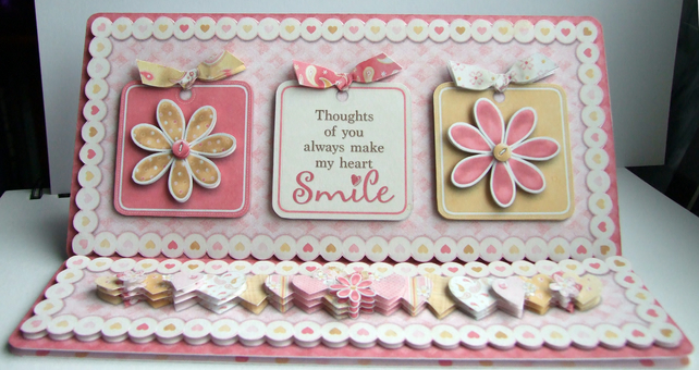 Anniversary You Make My Heart Smile Hand Crafted 3D Decoupage Card Love Cards