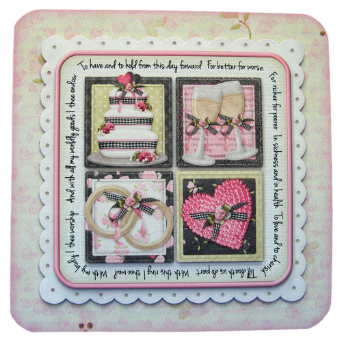 To Have and to Hold Wedding Card Handcrafted 3D Decoupage with Matching Envelope