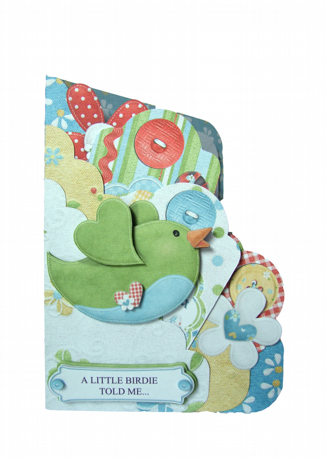 A Little Birdie Told Me... It's Your Birthday Scalloped Edge Pocket Card