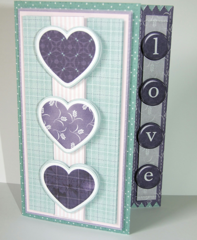 All of My Heart Asymmetric Handcrafted 3D Decoupage Card & Matching Envie