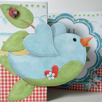 You Are So Tweet! Any Occasion Fold Back Card Love Friend Thank You Blue