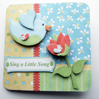 Sing A Little Song, Spring Has Sprung Any Occasion Card Easter Pagan Other