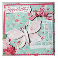 Twist and Pop Card 3D Decoupage Pop Out Birthday Card