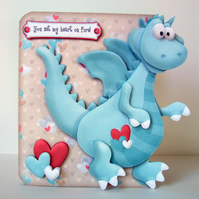 Valentine Card Dragon Shaped 3D Decoupage Card with a Variety of Options