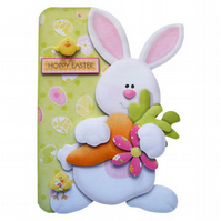 Hoppy Easter Card Handcrafted Card 3D Decoupage with Matching Envelope Bunny