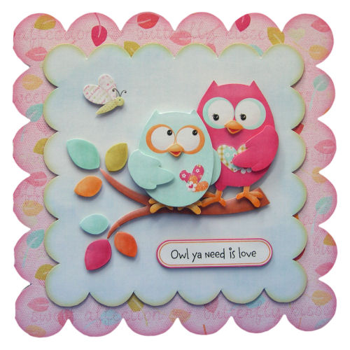 Owl ya Need Is Love Valentine's Day Card 3D Decoupage Card Boyfriend Girlfriend