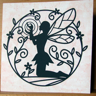 Magical Nature Fairy Silhouette Card, Any Occasion card, Birthday Cards, etc