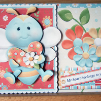 My Heart Beelongs to You 3D Decoupage Tent Card with Matching Envelope