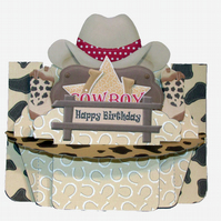 Cowboy Birthday 3D Decoupage Shelf Card Father's Day Anniversary Men's Cards Boy