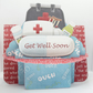 Medical 3D Decoupage Handcrafted Shelf Card with Matching Envelope Get Well Soon