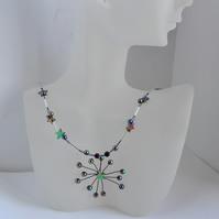 Rainbow Hematite  Star Necklace