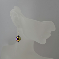 Rainbow Hematite Sterling Silver Earrings