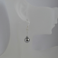 Silver Hematite Sterling Silver Drop Earrings